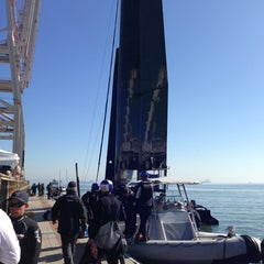 Photo taken at Oracle Team USA -Pier 80 by Rasmus on 2/14/2013