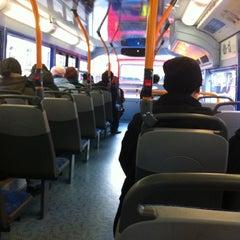 Photo taken at TfL Bus 8 by Erika O. on 12/1/2012