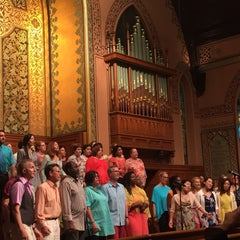 Photo taken at Middle Collegiate Church by Gabby D. on 6/14/2015