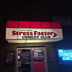 Photo taken at Stress Factory Comedy Club by Kristen A. on 8/19/2015