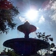 Photo taken at Jardín de San Miguel de Mezquitán by Galileo O. on 6/29/2013
