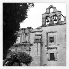 Photo taken at Jardín de San Miguel de Mezquitán by Galileo O. on 5/13/2013