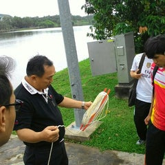 Photo taken at Tasik UNIMAS by Ahmad S. on 11/12/2015