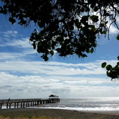 Photo taken at Waimea Recreation Pier by ernie e. on 12/16/2014