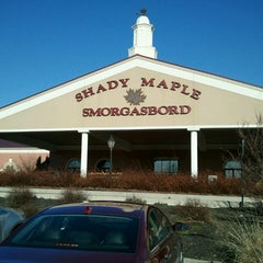 Photo taken at Shady Maple Smorgasbord by Eric P. on 4/6/2013