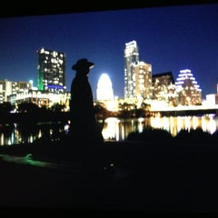 Photo taken at Stevie Ray Vaughan Statue by Pierre A. on 4/12/2013