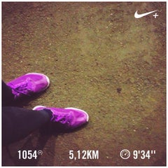 Photo taken at Jogging Track by Fitria R. on 4/21/2016