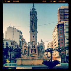 Photo taken at Plaza de Los Luceros by Gabie V. on 12/5/2012