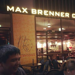 Photo taken at Max Brenner Chocolate Bar by Stefanus P. on 1/27/2013
