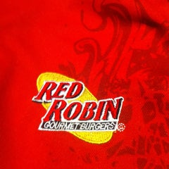 Photo taken at Red Robin Gourmet Burgers by Brian M. on 12/23/2012