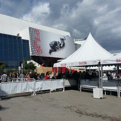Photo taken at Palais des Festivals et des Congrès by Moez K. on 5/19/2013