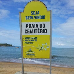 Photo taken at Praia Do Cemitério by Marcelo C. on 5/19/2013