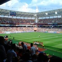 Photo taken at Стадион «Локомотив» by Lev G. on 5/12/2013