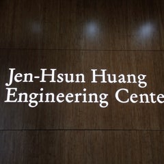 Photo taken at Jen-Hsun Huang Engineering Center by Wendy L. on 10/14/2014