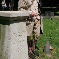 Photo taken at Paul Revere's Tomb by Sheila T. on 8/14/2014
