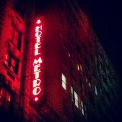 Photo taken at Hotel Metro by Brett R. on 11/21/2012