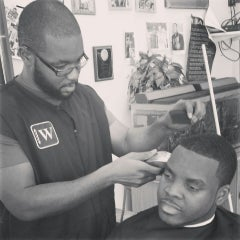 Photo taken at Warren Barbershop by @djdonx d. on 3/27/2014
