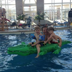 Photo taken at Pool @ Hyatt. by Stacey W. on 4/21/2014