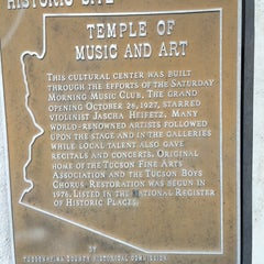 Photo taken at Temple of Music and Art by Gordon G. on 5/25/2014