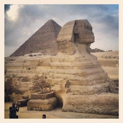 Photo taken at Great Sphinx of Giza | تمثال أبو الهول by Jim T. on 11/12/2012