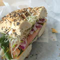 Photo taken at Bruegger's by Anthony B. on 5/4/2014