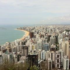 Photo taken at Praia da Costa by Léo R. on 11/2/2012