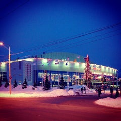 Photo taken at Арена 2000 Локомотив / Arena 2000 Lokomotiv by Евгения К. on 1/10/2013