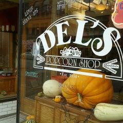 Photo taken at Del's Popcorn Shop by Rhonda S. on 11/11/2012
