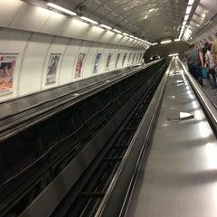 Photo taken at Metro =A= Malostranská by Art.kak on 8/23/2013