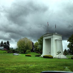 Photo taken at Peace Arch Border Crossing by Frank on 5/26/2013
