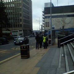 Photo taken at Megabus Birmingham City Centre Stop SH8 & SH9 by Mark B. on 11/28/2012