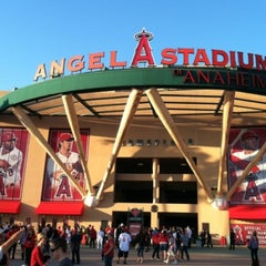 Photo taken at Angel Stadium of Anaheim by GbocaJ on 6/15/2013