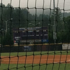 Photo taken at Bob Waters Field at E.J. Whitmire Stadium by Beth M. on 7/20/2013