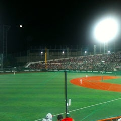 Photo taken at 목동야구장 (Mokdong Baseball Stadium) by Benjamin C. on 10/2/2012