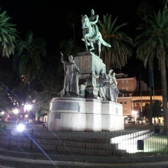 Photo taken at Plaza 9 de Julio by Joaco D. on 5/2/2013