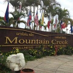 Photo taken at Mountain Creek Wellness Resort Chiangmai by LaDyz W. on 7/27/2013