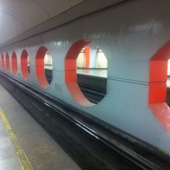 Photo taken at Metro Aquiles Serdán (Línea 7) by KGB on 3/13/2016
