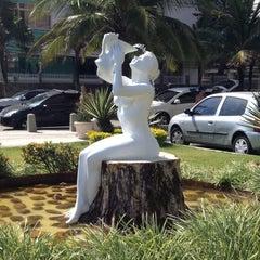 Photo taken at Estatua Pelada do Barra Beach by Marcio P. on 12/16/2012