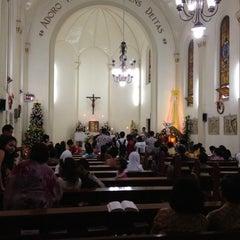 Photo taken at Kapel Hati Kudus Yesus by Syaiful Y. on 12/26/2012