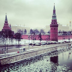 Photo taken at Большой Каменный мост / Bolshoy Kamenny Bridge by Anny . on 12/8/2012