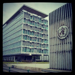Photo taken at World Health Organization - Main Building by Luis G. on 5/7/2013
