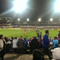 Photo taken at Brookvale Oval by Dale C. on 5/19/2014