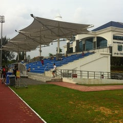 Photo taken at Kompleks Sukan MPSJ by Nikkie S. on 1/7/2013