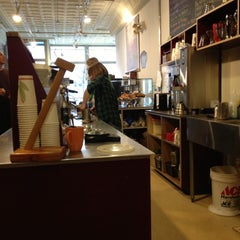 Photo taken at Mighty Good Coffee by Ian W. on 11/14/2012