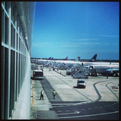 Photo taken at Aeropuerto Internacional De Cancún (CUN) by Javier B. on 2/23/2013