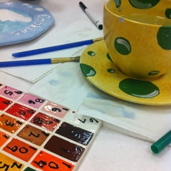 Photo taken at Color Me Mine - Howard Hughes by Alena on 11/2/2012