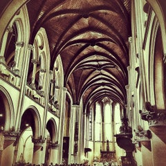 Photo taken at Gereja Katolik Katedral Jakarta by Adrian O. on 12/30/2012
