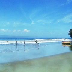 Photo taken at Pantai Batu Karas by Rico T. on 10/15/2013