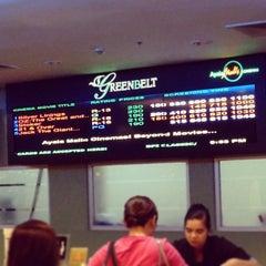 Photo taken at Greenbelt 3 Cinemas by Kristoffer King P. on 3/9/2013