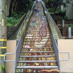 Photo taken at Hidden Garden Mosaic Steps by Louise K. on 3/5/2016